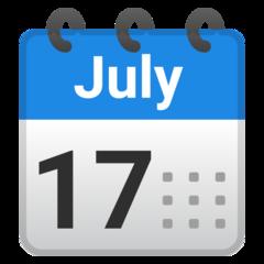 Spiral Calendar Pad google emoji