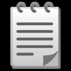 Spiral Note Pad google emoji