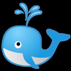 Spouting Whale google emoji