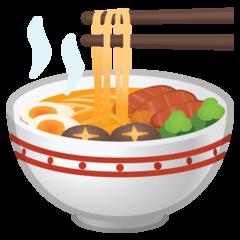 Steaming Bowl google emoji