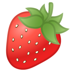 Strawberry google emoji
