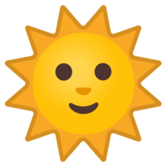 Sun With Face google emoji