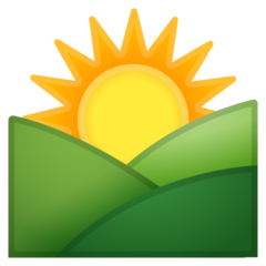 Sunrise Over Mountains google emoji