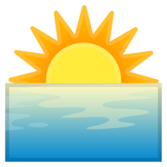 Sunrise google emoji