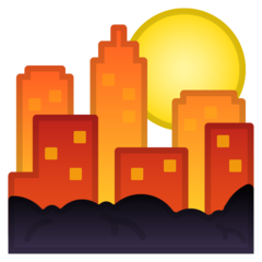 Sunset Over Buildings google emoji