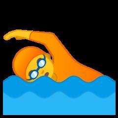 Swimmer google emoji