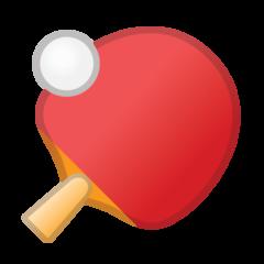 Table Tennis Paddle And Ball google emoji