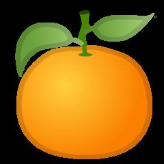 Tangerine google emoji