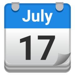 Tear-off Calendar google emoji