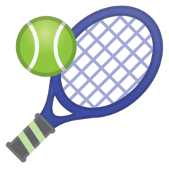 Tennis Racquet And Ball google emoji