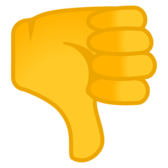 Thumbs Down Sign google emoji