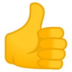 Thumbs Up Sign google emoji