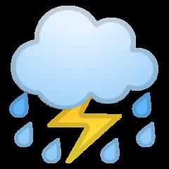 Thunder Cloud And Rain google emoji
