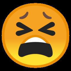 Tired Face google emoji