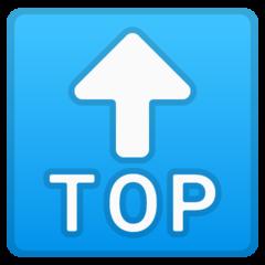 Top With Upwards Arrow Above google emoji
