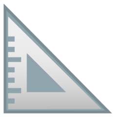 Triangular Ruler google emoji