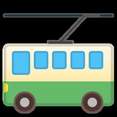 Trolleybus google emoji