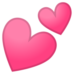Two Hearts google emoji