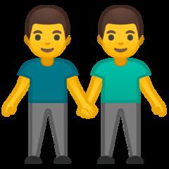 Two Men Holding Hands google emoji