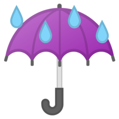 Umbrella With Rain Drops google emoji