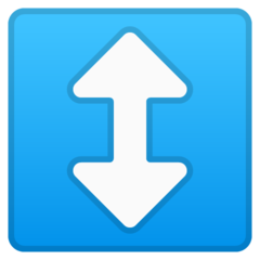 Up Down Arrow google emoji