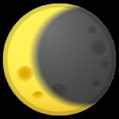 Waning Crescent Moon Symbol google emoji