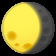 Waning Gibbous Moon Symbol google emoji