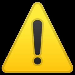 Warning Sign google emoji