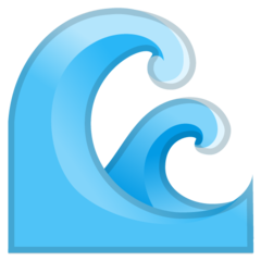 Water Wave google emoji
