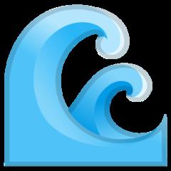 Water Wave google emoji