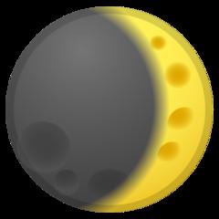 Waxing Crescent Moon Symbol google emoji