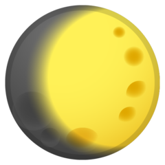 Waxing Gibbous Moon Symbol google emoji