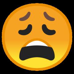 Weary Face google emoji