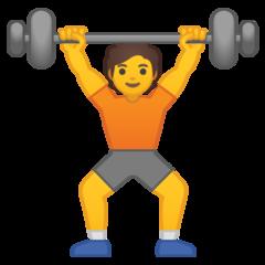 Weight Lifter google emoji