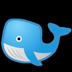 Whale google emoji