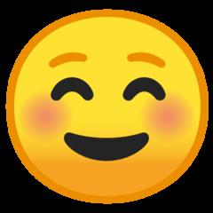 White Smiling Face google emoji