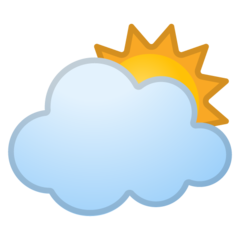 White Sun Behind Cloud google emoji