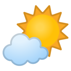White Sun With Small Cloud google emoji