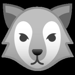 Wolf Face google emoji