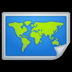 World Map google emoji