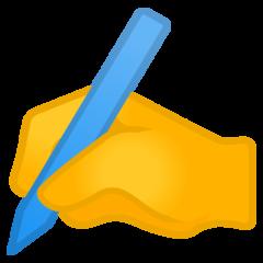 Writing Hand google emoji