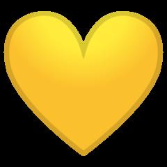 Yellow Heart google emoji