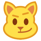 Cat Face With Wry Smile htc emoji