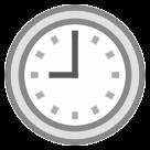 Clock Face Nine Oclock htc emoji