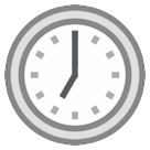 Clock Face Seven Oclock htc emoji
