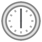 Clock Face Six Oclock htc emoji