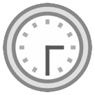 Clock Face Three-thirty htc emoji