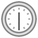 Clock Face Twelve-thirty htc emoji