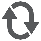 Clockwise Downwards And Upwards Open Circle Arrows htc emoji
