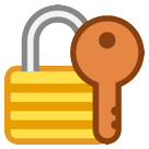 Closed Lock With Key htc emoji